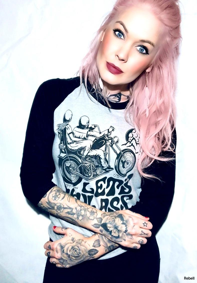 lets haul ass london tshirt girl chopper motor motorcycle motorcykel Hoj rebell rocknroll rock