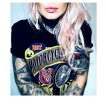 Övrig Tshirt Hot motorcycle & cold beer tshirt unisex - L