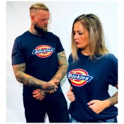 Dickies tshirt Navy Blå bas horseshoe unisex