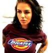 Dickies tshirt Maroon bas horseshoe unisex - XS
