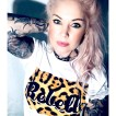Rebell Tshirt Leopard svart text . Ny! Unisex - XL