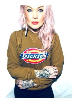 Dickies Tjocktröja Brown Duck Sweatshirt Harrison unisex - XXL