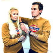 Dickies Tjocktröja Brown Duck Sweatshirt Harrison unisex