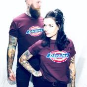 Dickies tshirt Maroon bas horseshoe unisex
