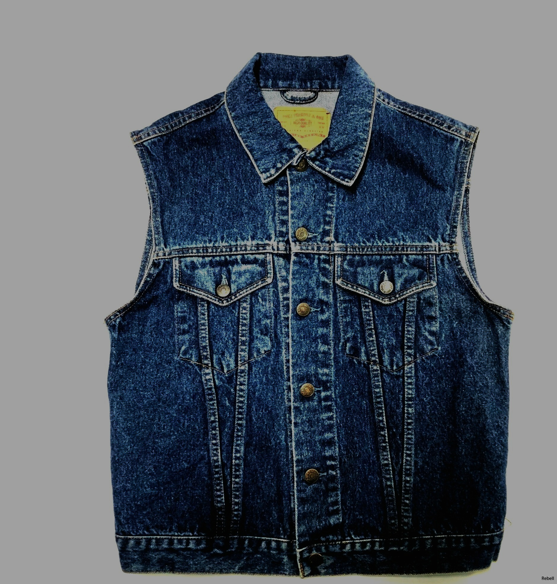 Jeansväst väst jeans amerikansjeansväst vintage design rebell rebellclothes