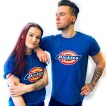 Dickies tshirt Royal Blue Nyhet bas horseshoe unisex - XXL