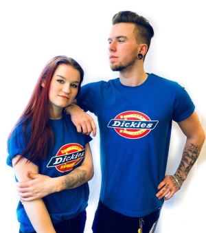 Dickies tshirt Royal Blue Nyhet bas horseshoe unisex - XS