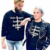 Rebell långärmat chopper & hail satan