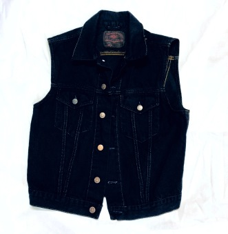 Junk Jeansväst Amerikansk svart jeansväst unisex - M