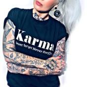Rebell Tshirt Karma svart unisex