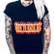 Rebell Tshirt born to raise hell svart unisex
