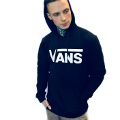 Vans hoodie med luva svart unisex