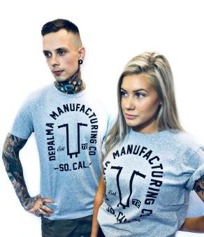 Depalma T-shirt nyhet handlebars grå unisex
