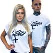 Rebell Tshirt Satans Finest vit nyhet unisex