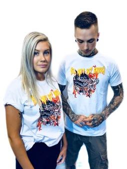 Rebell Tshirt Hell aint hot enough vit unisex