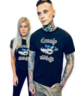 Rebell Tshirt Lonely Wolf svart unisex