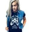 Rebell Tshirt good times bad friends svart unisex