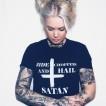 Rebell tshirt ride chopper & hail satan unisex