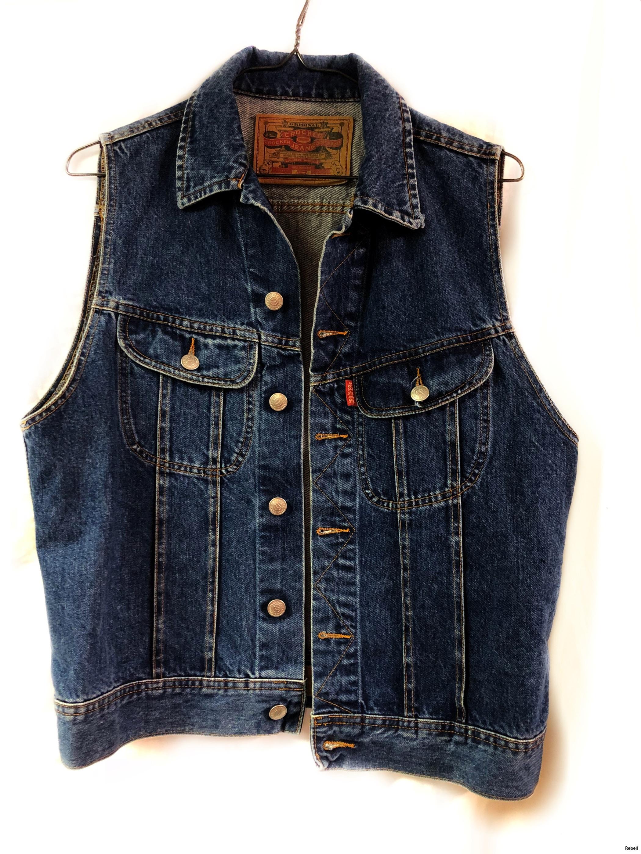 crocker jeansväst jeans väst rebell rebellclothes