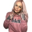 Rebell hoodie rosa limited edition