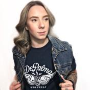 Depalma Tshirt Retro Wheels Blå unisex