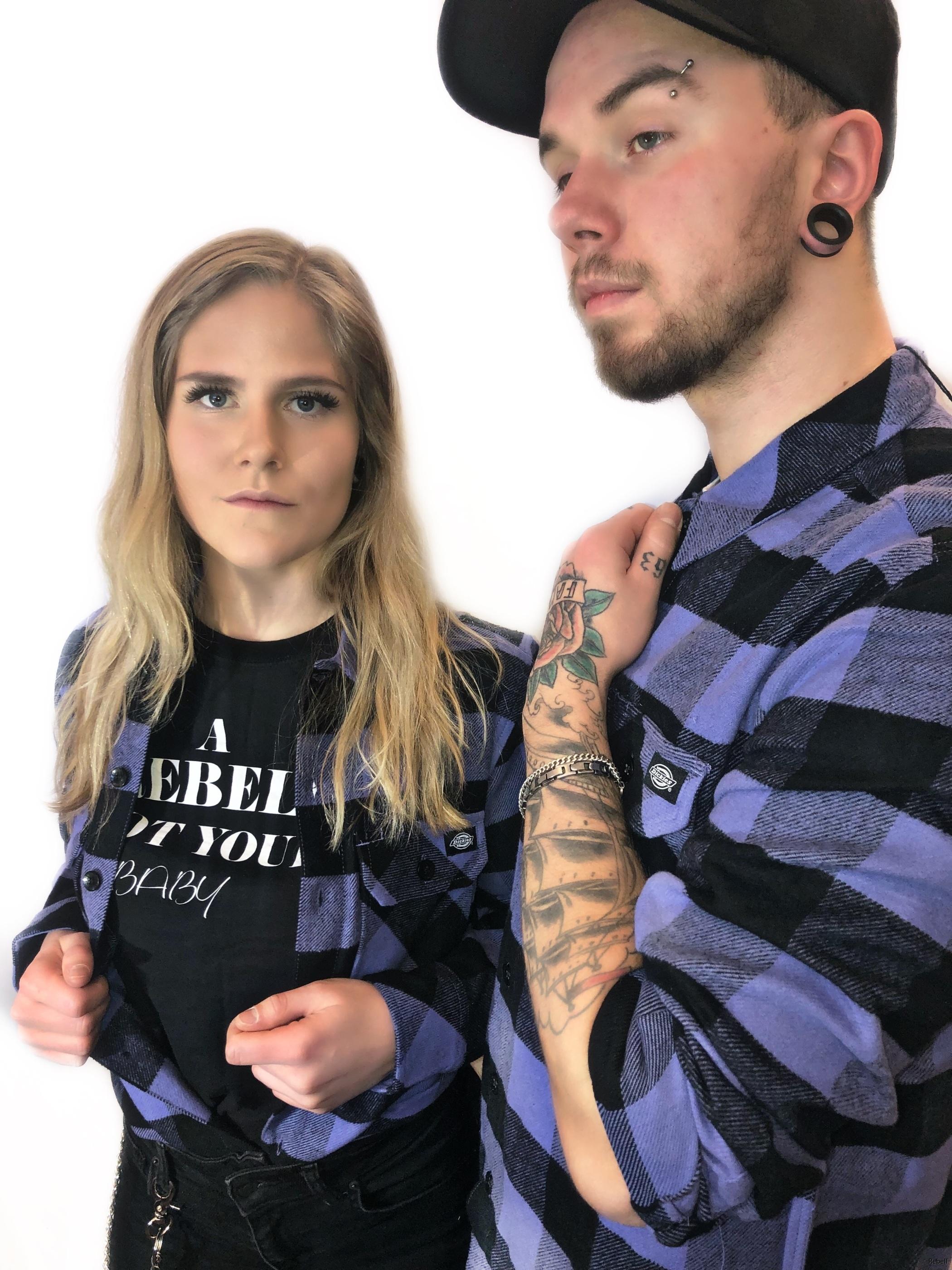 04020AEC-dickies flanell dickiesflanell dickieskläder dickiesskjorta rebell rebellclothes  blå blåskjorta blåflanell rebellclothes flaneller dickieskläder dickies kläder rebellkläder  lila lilaskjorta