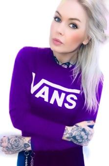 Vans Tshirt classic tunn baseball lila  unisex news