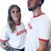Dickies Tshirt bakerton röd/vit nyhet unisex