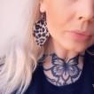 rebell örhänge leopard läder