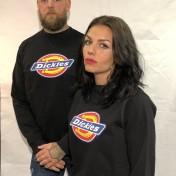 Dickies Pittsburgh tjocktröja svart nyhet unisex