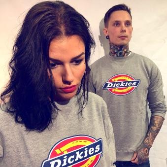 Dickies Pittsburgh tjocktröja grå nyhet unisex