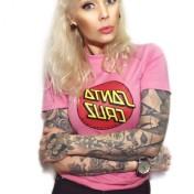 Santa Cruz orginal rosa bas  tshirt unisex