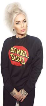 Santa Cruz hoodie utan luva svart bas unisex