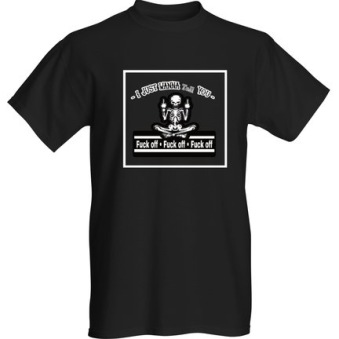 Rebell Tshirt Fuck Off svart unisex