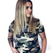 Rebell militär Tshirt-militärmönstrad limited edition nyhet. Dammodell