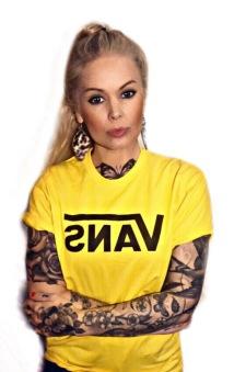 Vans Tshirt gul/svart nyhet unisex