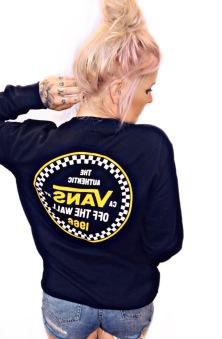 Vans hoodie checker 66 svart utan luva unisex
