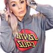 Santa Cruz hoodie med luva  grå bas unisex