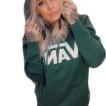 Vans hoodie med luva grön ,unisex