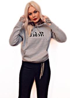 Rebell hoodie grå