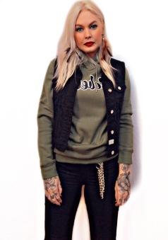 Rebell hoodie grön unisex