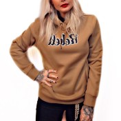 Rebell hoodie brown duck unisex