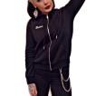 Rebell hoodie svart dragkedja