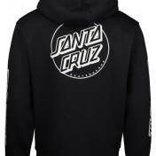 Santa Cruz hoodie opus dot stripe svart unisex