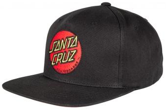 Santa Cruz classic dot svart keps