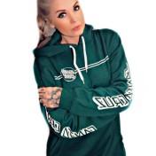 Santa Cruz hoodie opus dot stripe grön unisex