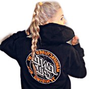 Santa Cruz hoodie mfgdoot orange svart unisex