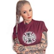 Independent Tshirt maroon orginal bas unisex