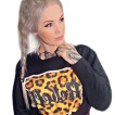 Rebell Tunnlångärmad Leopard svart nyhet unisex