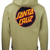 Santa Cruz hoodie grön other dot  unisex